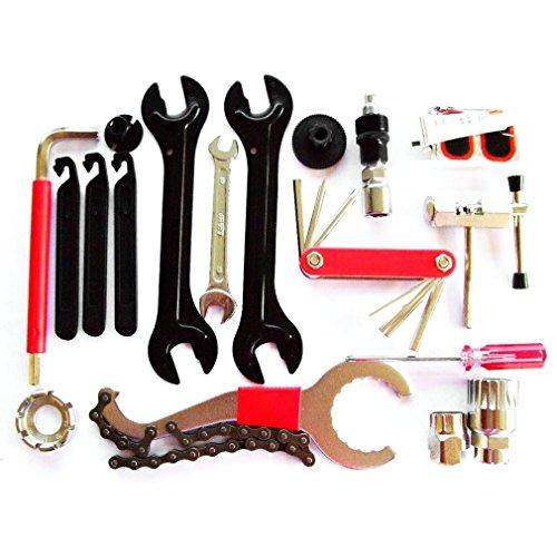 Fahrrad Werkzeugkoffer ICOCO Fahrrad Werkzeug Set,Fahrradwerkzeug für Fahrrad Montagearbeiten und Reparaturen,Komplettset Werkstatt (29 tlg)