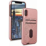 Shell IPhone X IPhone Xs Case Codream Ultra Slim Protective Iridescent Cover Cover Protective Case Compatible With IPhone X IPhone Xs (Rose Gold)