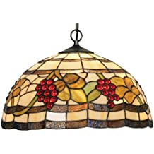 Oaks Lighting OT 6018/16 P - Lámpara de techo de cristal con diseño de uvas, 100 W, 41 x 30 cm, multicolor