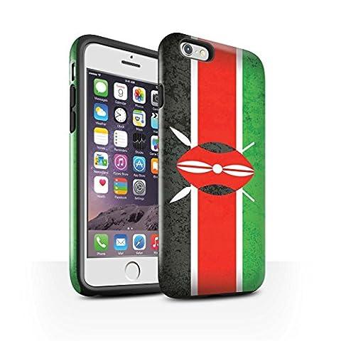 Coque Brillant Robuste Antichoc de STUFF4 / Coque pour Apple iPhone 6S / Kenya/Kenyan Design / Drapeau Africain Collection