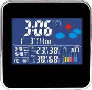 design funk wetterstation farbdisplay thermometer innen au en barometer 180408 garten. Black Bedroom Furniture Sets. Home Design Ideas