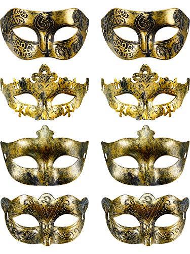 8 Stück Vintage Antiquität Masken Maskerade Karneval Maske -