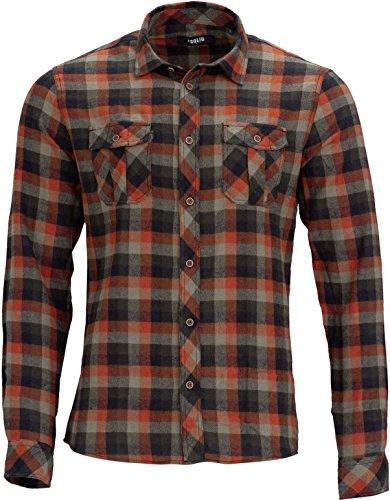!Solid Herren Hemd, Flanellhemd Karo, Aktuelles Modell per, Dunkelgruen Größe M (Flanell Karo Hemd)