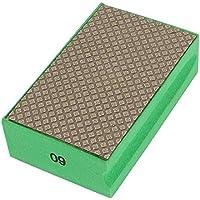 Sourcingmap - Tampone per lucidatura manuale, con inserto in spugna abrasiva diamantata, grana 60, colore verde