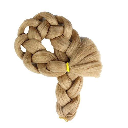 Rifuli® Perrücke Fasermaterial Zöpfe Bulk Hair Flechten Frisur Kunsthaar Häkeln Flechten Lange Haare Perücke