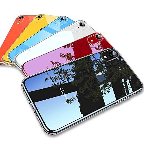 ESR Transparent Silikon Hülle für iPhone XR, Ultradünnen Weiche Silikonhülle Flexibel Bumper Case Handyhülle Kratzfest Durchsichtige TPU Handy Schutzhüll kompatibel mit iPhoneXR- Klar Rahmen (Dämpfen Iphone)