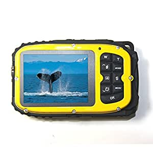 Wasserdichte Kamera Stoga CGT002 2,7 Zoll LCD Digitalkamera 16MP Video Camcorder wasserdicht Kamera Zoom Video Recorder + 8 X Zoom Cam-gelb