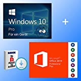Windows 10 Pro + Office 2019 professional plus Key als Bundle + EBOOK