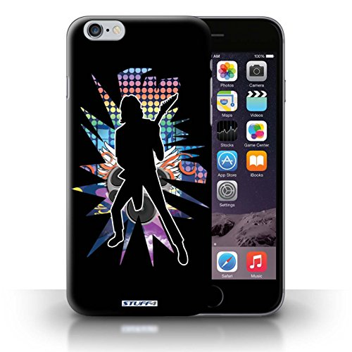 KOBALT® Hülle Case für iPhone 6+/Plus 5.5 | Windmill Schwarz Entwurf | Rock Star Pose Kollektion Solo Schwarz