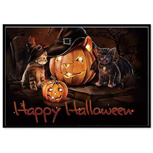 OverDose Damen Halloween 5D Stickerei Gemälde Strass Knochen -