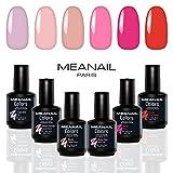 Shellac UV Nagellack - Nagellack Set - UV Gel Set - Gellack Set - Nail Polish Set 6 Farben - 14 Tage Halt - vegan& cruelty free