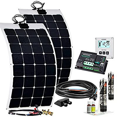 Offgridtec Wohnmobil Solaranlage, 200 W Flexibel Solarkit, 12 V Caravan, 005425