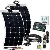 Offgridtec Wohnmobil Solaranlage SPR-F-200 220W 12V mit flexiblen Solarmodulen und MPPT Dual Laderegler