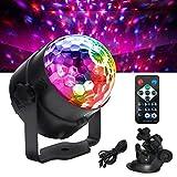 NeNewthinking Disco Ball Party Light Sound Activated LED DJ Stage Dance Strobe Lights