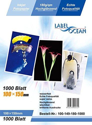 LabelOcean-100hojas papel fotográfico 10x