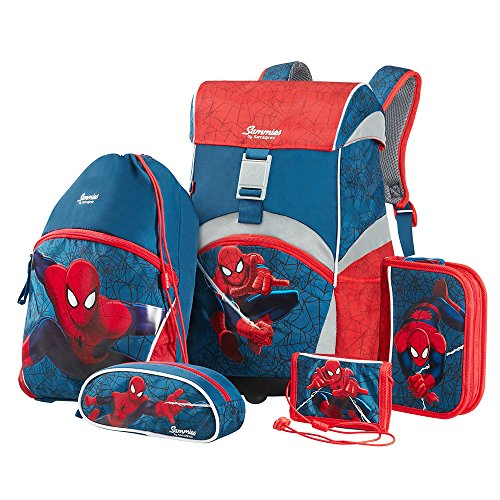 Sammies by Samsonite - Schulranzen Set 5 tlg. - Spider-Man Marvel (Samsonite Luggage Lock Set)