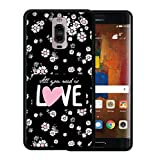 WoowCase Funda Huawei Mate 10, [Huawei Mate 10 ] Funda Silicona Gel Flexible Flores con Frase - All Your Need Is Love, Carcasa Case TPU Silicona - Negro