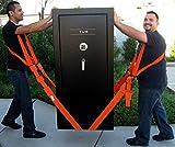 4pièces en mouvement Ceinture pour levage meubles Lit Armoire lourds objets volumineux ergonomique réglable Mover facile de levage Parés Ceinture, Orange