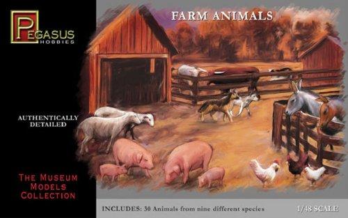 Farm Tiere - 1.48 Plastik Set Von Pegasus Hobbies