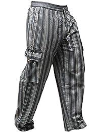 b4d355e628 Shopoholic fashion Unisex Multicolor Rayas Wideleg sidepocket Hippy  Pantalones