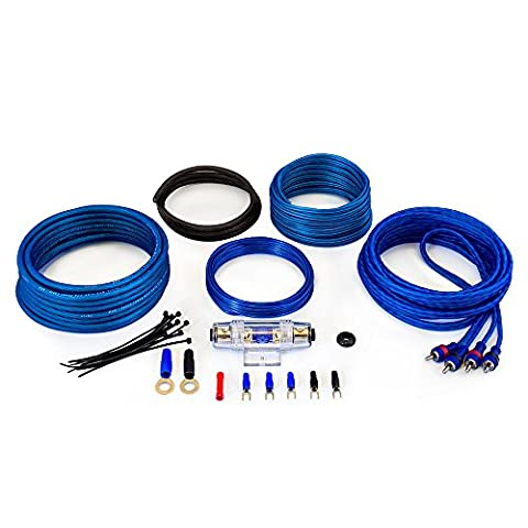 Sound Quest SQK8 amplifier connection kit CCA Value Series 600 Watt 60A 8 Gauge (8,37mm²)