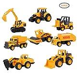 EisEyen 8 Stück Mini Legierung Bagger Lastwagen Autos Baustellenfahrzeug Auto LKW Truck Kinder Spielzeug für Kinder ab 1 2 3 Jahren