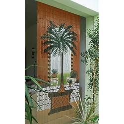 "Leguana - paraafo puerta de cortina bambu para puerta "" dubai "" 90x200cm aprox"