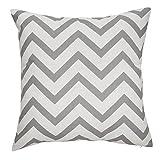 Avanzza Fodera per cuscino/Federa 50 x 50 cm in grigio per cuscino, cuscino del divano/cuscino del divano e cuscino decorativo/cuscino decorativo AUS der linea Decor Chic