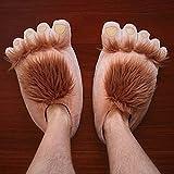 Diseño de huellas de oso nuevo Spritech? Zapatillas suavizador de Adorable carcasa para mujer Zapatillas para uso doméstico regalo, Skin Color, talla