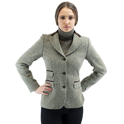 Harris Tweed Damen Steppjacke Jacke Gr. 36, P-2688 Green