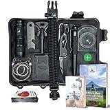Cliff&Cliff Survival Kit mit EBooks - Outdoor, Camping und Wandern - Notfall Set mit Klappmesser, Paracord Armband, Taschenlampe, Tactical Pen und weiterem Zubehör (Set 2)