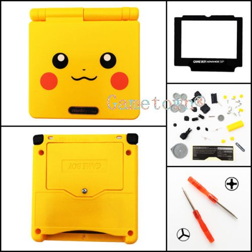 gametown Full Gehäuse Shell Pack Case Cover für GBA SP Gameboy Advance SP Limited Gelb -