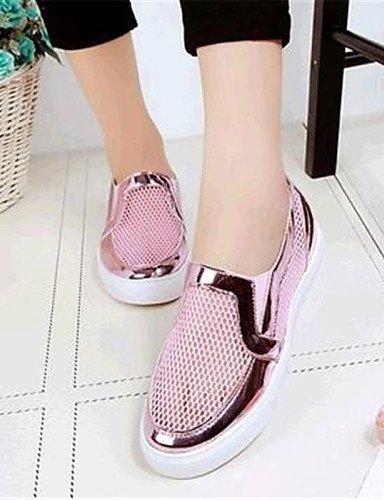 ShangYi gyht Scarpe Donna-Mocassini-Tempo libero / Casual-Comoda-Piatto-Finta pelle-Rosa / Bianco / Grigio Pink
