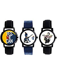 A R Sales Pack Of 3 Analog Watch For Mens And Boys 2-4-6