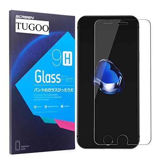 Protector de Pantalla iPhone 7 Plus, TUGOO Alta Definicion 9H Dureza 3D Touch Vidrio Templado para Apple iPhone Plus (5.5 Pulgadas)