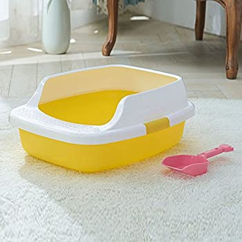 DESESHENME Toilettes démontables chat chiot Pet Potty chat toilette donner litière Pelle Bedpan chat litière boîte de haute qualité, jaune, 51 × 40 × 22 cm
