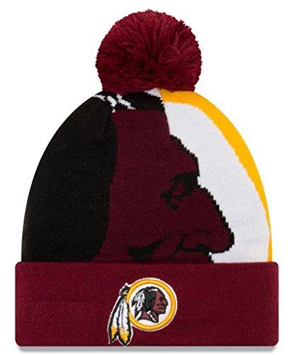 New Era Unisex Erwachsene 3NFL Logo AS 3Cuff Knit, FALL17-NFL-LOGOWHIZ3KNIT, kastanienbraun, Einheitsgröße