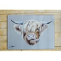 Highland Cow Chopping Board / Worktop Saver by Irish Artist Grace Scott