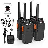 Radioddity R2 PMR Funkgeräte 16 Kanäle Walkie Talkie mit Headset (2 Paare)