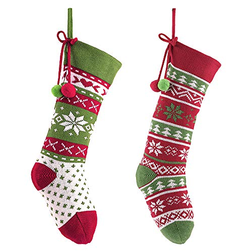 Valery Madelyn Calze di Natale Decorazioni Calze lavorate a Maglia Nicholas Stivale per...
