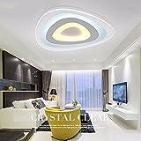 HUANGXIN & LIEF Ultra dünne Decke Lampe modernes Schlafzimmer Lampen-LED Wohnzimmer runde Leuchte Lampe Deckenleuchte Durchmesser 100 cm - Tricolor