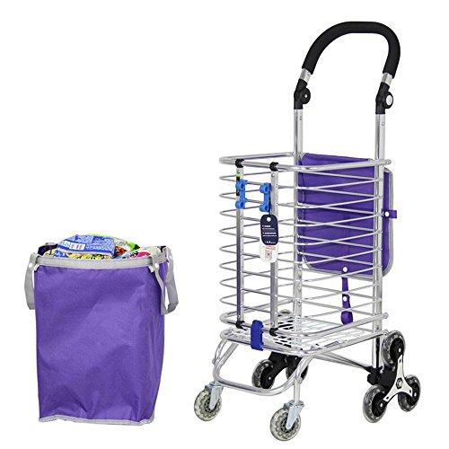 WYFC Einkaufswagen. Treppensteigen Grocery Wäscherei Utility Cart mit acht Räder Edelstahl Frame Einkaufstrolleys (Mit Cart Utility Räder)