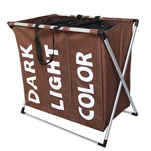 JAYLONG Großer Waschkorb, Zusammenklappbare Stoff Wäsche, Faltbare Kleidertasche, Klapp Waschbär (5 Farben) Für Den Schul Schlaf mit Zu Hause,C