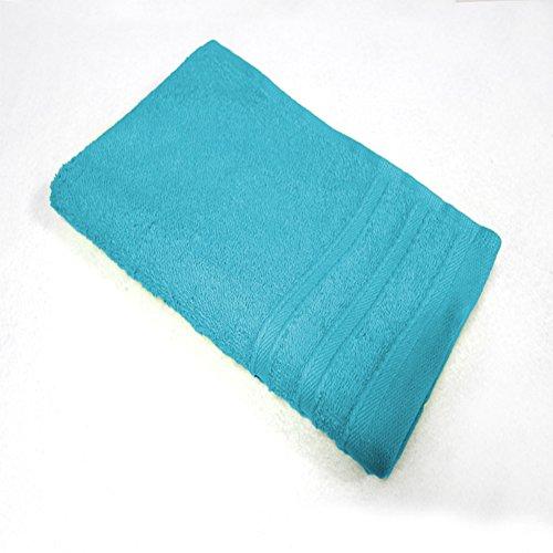 Douceur d'Intérieur Vitamine Serviette d'Invité 450 g Coton Uni Turquoise 30 x 50 cm