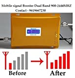 Lintratek Dual band 2G/3G Mobile Signal Booster/Amplifier 900/2100MHz GSM Wireless Network Repeater Kit
