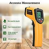 Floureon Laser Infrarot Thermometer IR Pyrometer berührungslos Temperaturmessgerät Temperaturmesser