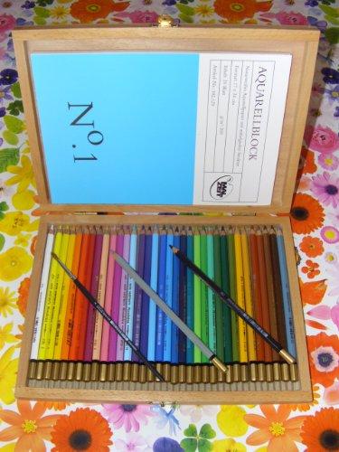Mondeluz - Aquarellfarbstifte - Farbstifte von höchster Qualität! Hier eine spezielle Grundausstattung zum Kennenlernen - Alles was mann/frau braucht!!!
