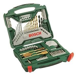 Bosch Bohrer-Set Titanium (70-teilig, X-Line für Holz, Stein, Metall) 2607019329