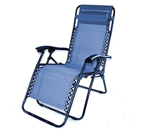 Relaxliege NIZZA LUXURY Sonnenliege Farbe OCEAN BLUE mit Sitz- bzw.Liegeposition Neuestes Sommermodell