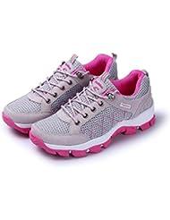 Z&HX sportsAl Aire Libre Zapatos De Senderismo Antideslizante Resistente Al Desgaste Calzado Zapatos Transpirable , Gray , 37